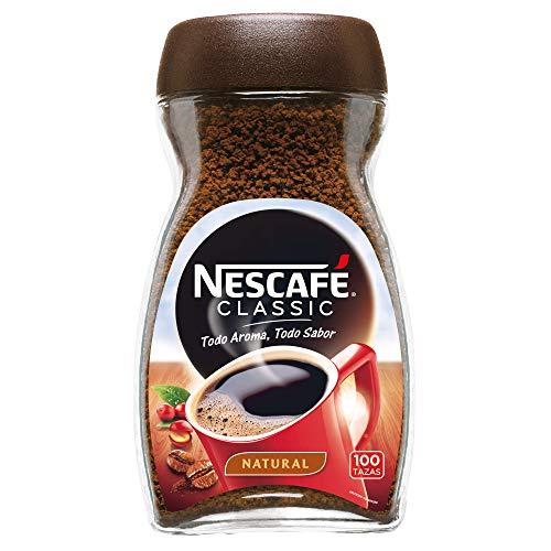 Nescafé Café Classic Soluble Natural, Bote de cristal - 200 gr de Café