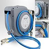 BITUXX Druckluft Schlauchtrommel 12m automatik Druckluft Schlauchaufroller 12 Meter 1/4