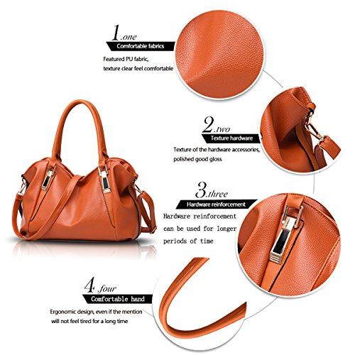Tisdaini La nuova borsa del suolo femminile mette in mostra il grande pacchetto morbido dell'unità di elaborazione PU del raccoglitore casuale del messaggero di spalla Marrone