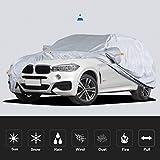 Compatibile con BMW X6 traspirante e impermeabile di protezione della neve impermeabile antipioggia antipolvere auto mobile della copertura garage coperto mobile ( Color : Silver grey , Size : 2016 )