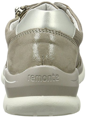 Remonte D5304, Scarpe Stringate Donna Beige (Murmel/elefant/silver/42)