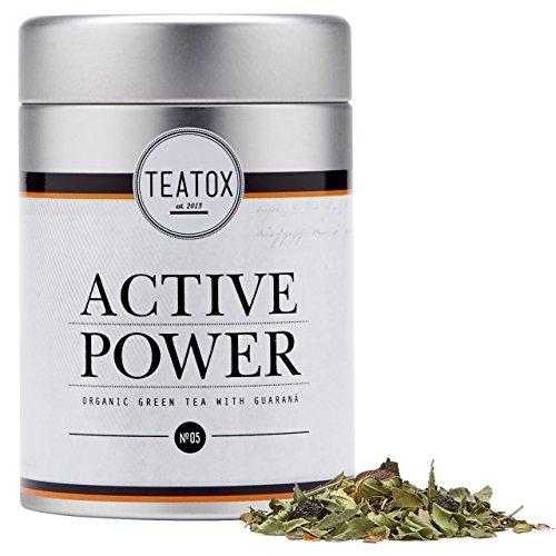 TEATOX Active Power, Bio Grüntee mit Guarana, Dose