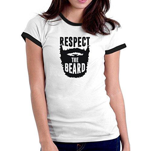 Maglietta Ringer da donna Respect the beard