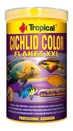Zwergbuntbarsch Farbe Flake 1000ml/160g colour-enhancing sich mit hohen Gehalt von Protein für den täglichen Füttern von omnivorous und Fleischfressende Buntbarsche