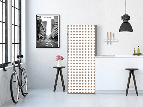 film-adhesif-decoratifx-bricolage-refrigerateur-cuisine-art-de-tuiles-mural-design-mono-dots-marron-