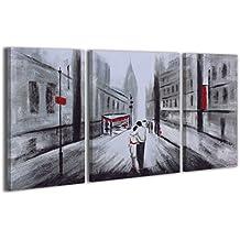 100% LABOR A MANO + certificado / Amor / 130x70 cm / El cuadro dibujado con pinturas acrílicas / cuadros sobre el lienzo con bastidor de madera / cuadro dibujado a mano / montaje cómodo sobre la pared / Arte contemporáneo