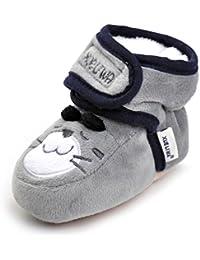 Botas para Bebé, Amlaiworld Recién nacido bebé niño niña Cartoon cuna zapatos suave suela antideslizante de arranque 0-18 Mes