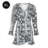 Europäisches und amerikanisches Kleid modisch sexy V-Ausschnitt Taille Crepe Print Overlay-Kleid