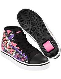 Heelys Veloz, Chaussures de Tennis Fille, Noir (Black/Pink Flame), 38 EU