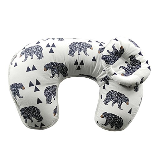 MagiDeal 2Pcs/Set Maternity Pillow Breastfeeding Nursing Pillow For Babies Newbron Support Cotton Bear Pattern