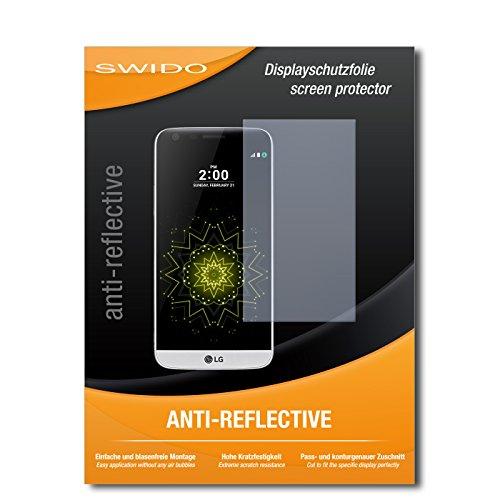 SWIDO Schutzfolie für LG G5 [2 Stück] Anti-Reflex MATT Entspiegelnd, Hoher Härtegrad, Schutz vor Kratzer/Bildschirmschutz, Bildschirmschutzfolie, Panzerglas-Folie