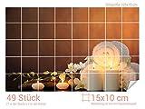 Graz Design 761652_15x10_70 Fliesenaufkleber Wellness - Set für Kacheln | Bad-Fliesen mit Fliesenbildern überkleben (Fliesenmaß: 15x10cm (BxH)//Bild: 105x70cm (BxH))
