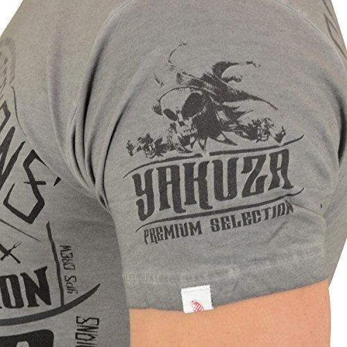 Yakuza Premium T-Shirt Vintage 3 Grau Washed Grau