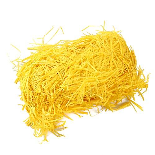 e Paper Osternest Grass Craft Shred Paper Crinkle-Papier für Geschenkverpackungen, gelb ()