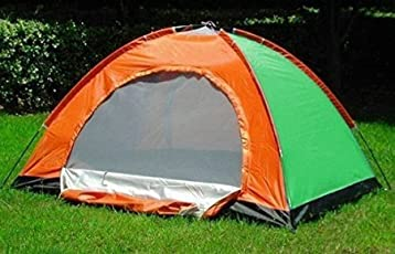 Diswa Polyester Pongee Automatic Opening Tent for Hunting Fishing for 6 People (Multicolour)