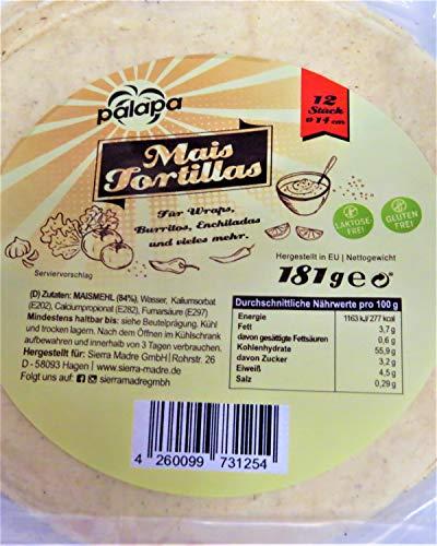 Palapa Mais-Tortillas 14cm – 12 Stück – AB 30,- EURO VERSANDKOSTENFREI in D!