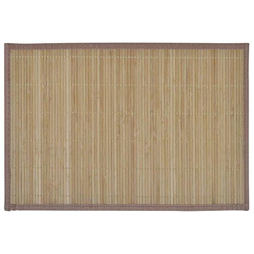 vidaXL 6 Platzdeckchen Bambus Platzdecke Platzset Tischmatte 30 x 45 cm Braun