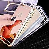 Mila Parker Soft-Spiegelcase für iPhone 7 Plus Rosegold/Gold/Silber (Gold)