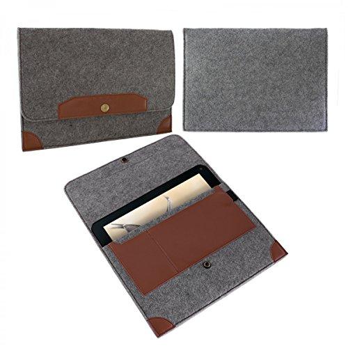 eFabrik Sleeve für Blaupunkt Endeavour 1001 DVBT (10,1 ') Tasche Hülle Schutz Case Cover Zubehör Filz Grau
