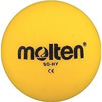 48X Molten–Pelota de gomaespuma SG de Hy suave Niños Kids Balón + RS de Sports Bolígrafo, amarillo, 125g, Ø 160 mm