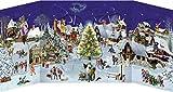 Winterabend im Dorf - Nostalgischer Schiebekalender: 3-D-Panorama mit 24 Schiebefiguren