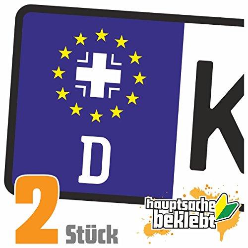 Bundeswehr Kreuz - Eisernes Kreuz Kennzeichen Aufkleber Sticker Nummernschild - IN 15 FARBEN -