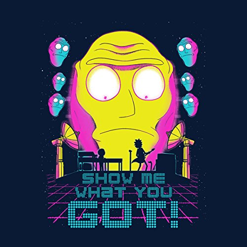 Show Me What You Got Get Schwifty Rick And Morty Men's Vest Navy Blue