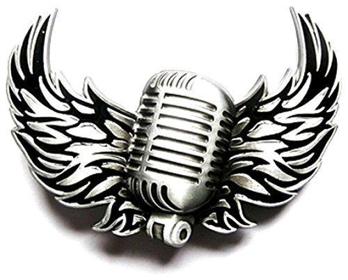 Hebilla micrófono, música rock, pericárdicoy - hebilla para cinturón