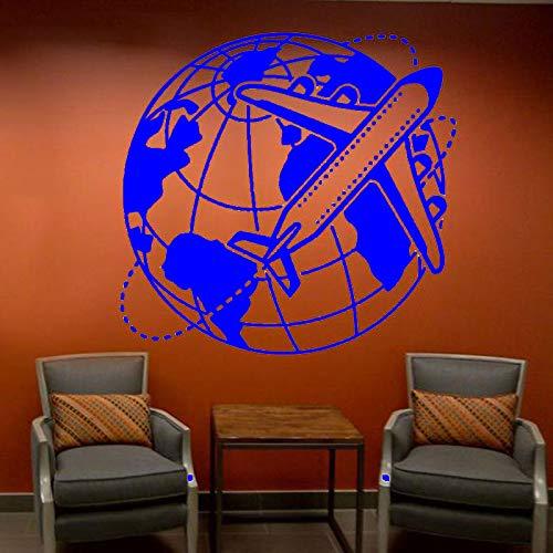 Preisvergleich Produktbild yaoxingfu Reisebüro Büro Sommerferien Reise Wandtattoo Vinyl Innendekoration World Travel Airliner Flughafen Aufkleber Wandbilder ww-4 59x57cm