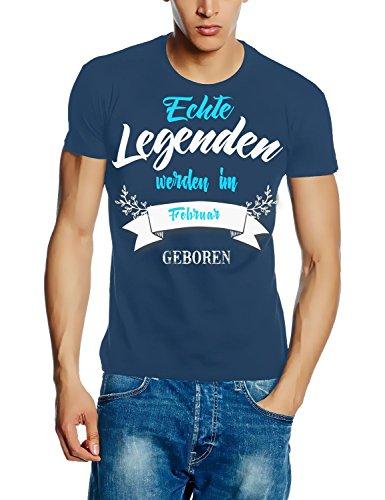 Echte Legenden werden im Februar geboren ! Geburtstag T-SHIRT STONEBLUE, Gr.L (Mädchen T-shirt Geboren)