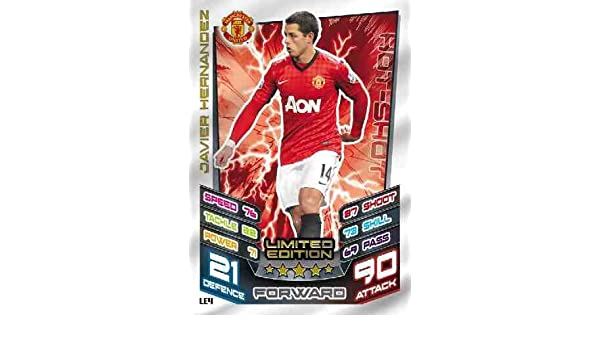 Match Attax EXTRA 12//13 JAVIER HERNANDEZ Limited Edition LE4