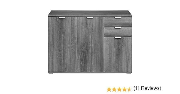 Mobiletto credenza armadietto moderno in legno ampia capienza con