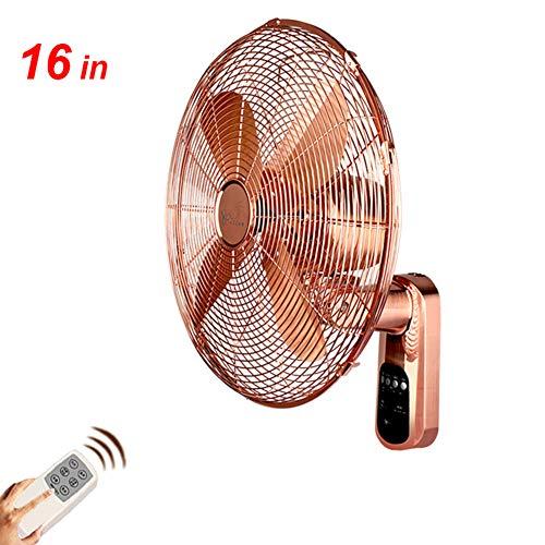 FANS Ventilador de Pared de Metal para hogar, Oficina,Ventiladores eléctrico Industrial Retro,...