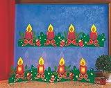 Fischer Fensterbild WEIHNACHTSLEPORELLO / Bastelpackung / Größe: ca 90x23 cm / zum Selberbasteln / Basteln zu Weihnachten aus Papier und Pappe