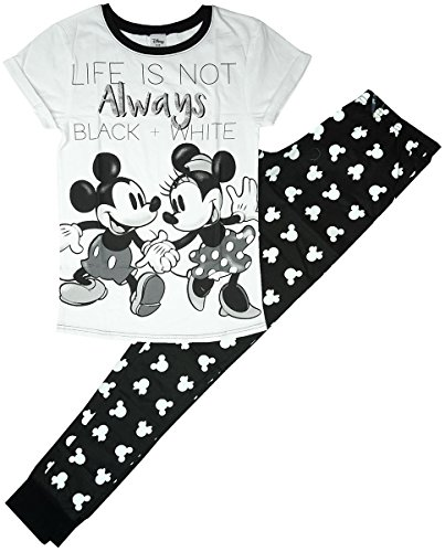 Womens Disney Minnie & Mickey Mouse Life T-Shirt Top Pyjamas Plus Sizes from 8 to 22 - 51FG4cOH7kL - Womens Disney Minnie & Mickey Mouse Life T-Shirt Top Pyjamas Plus Sizes from 8 to 22