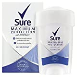 Sure Women Maximum Protection Clean Scent AntiPerspirant Deodorant Cream 45 ml - Pack of 3