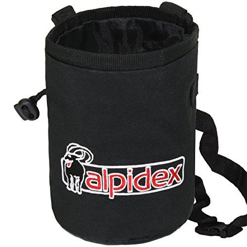 Chalkbag-Highfly-inklusive-Hftgurt-von-Alpidex-FarbeBlack-Rock