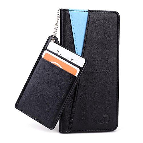 Kroo Seattle Series Étui en cuir smartphone avec Active et Indépendant Solt pour cartes pour Apple iPhone 6 Marron - marron Bleu - bleu