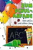 Depesche Glückwunschkarte Schulanfang Karte Einschulung Grußkarte Luftballons Schultafel