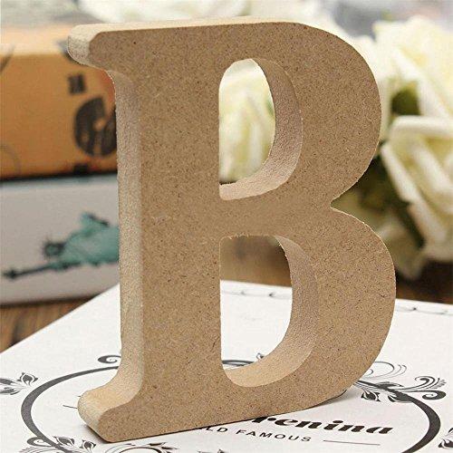 Freeas Dekorative Holz Buchstaben, hängende Wand 26 Buchstaben aus Holz Alphabet Wand Buchstaben für Kinder Baby Name Mädchen Schlafzimmer Hochzeit Geburtstag Party Home Decor-Briefe (B) (Holz Wand Buchstaben)