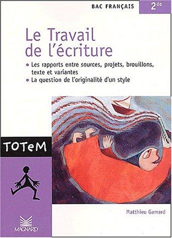 Le Travail de l'écriture par Matthieu Gamard