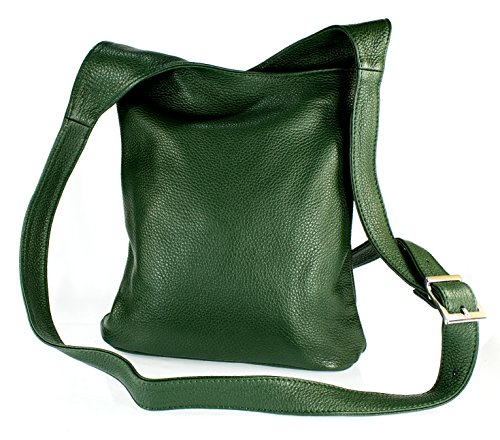 411adc86cdd91 Echt Leder Damentasche Handtasche Ledertasche Schultertasche Umhängetasche ( blau) grün ...
