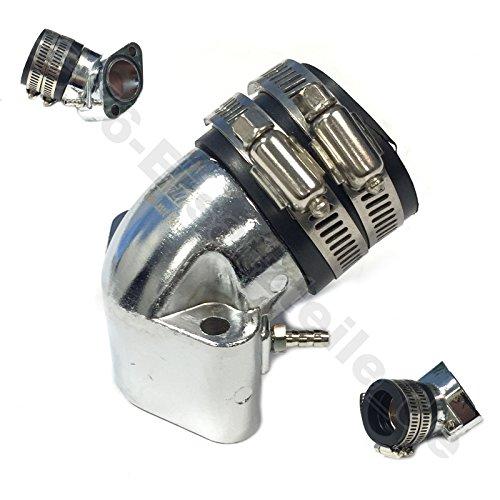 TUNING ANSAUGSTUTZEN - ANSAUGBRÜCKE Ø 27mm für 4-TAKT 152QMI / 157QMJ / GY6 Motoren * passend z.B.für BAOTIAN SARO SPORT AGM BENZHOU YIYING YY125T FLEX TECH HUATIAN HYOSUNG BUFFALO WIND MOTINO BENERO EPPELLA GMX JINLUN JMSTAR KREIDLER YIBEN ZNEN KARCHER KYMCO MOTORROW THURBO PEUGEOT JINAN QINGQI REX RS SACHS SUKIDA FOSTI XINLING XINTIAN KINROAD XT150T ZHONGSHEN ZHONGYU CHINA ROLLER GY6 CHINA ROLLER 125-150cc