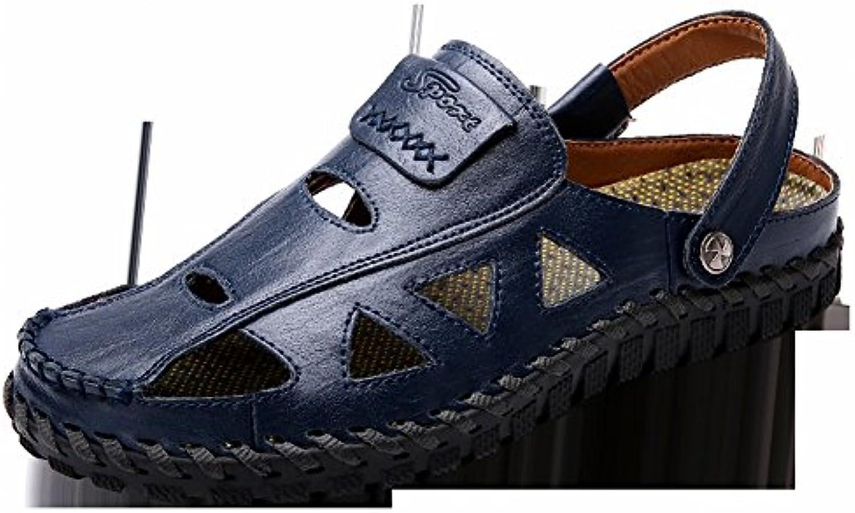 YTTY Mode Handgenähten Sandalen weisshen Leder Casual Herrenschuhe Herrenschuhe