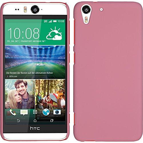 PhoneNatic Case für HTC Desire Eye Hülle rosa gummiert Hard-case für Desire Eye + 2 Schutzfolien