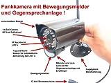 DG60 Wetterfeste 2,4 GHz Farb Funk Kamera mit Nachtsicht, Bewegungsmelder und Freisprecheinrichtung!