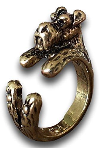 Pashal Schnauzer Hund verstellbar 3D Schwarz Umwicklung Ring von