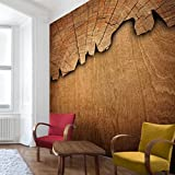 Apalis Vliestapete Holzstruktur II Fototapete Quadrat | Vlies Tapete Wandtapete Wandbild Foto 3D Fototapete für Schlafzimmer Wohnzimmer Küche | Größe: 336x336 cm, natur, 97742