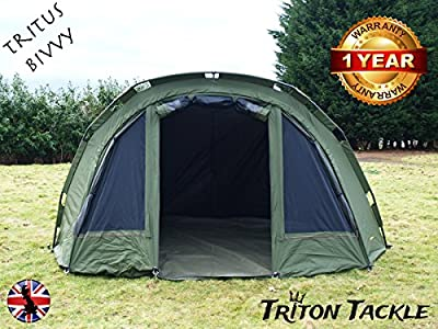 XXL 1 MAN TRITUS SUPER WATERPROOF DELUXE BIVVY + WINTER SKIN by TRITON TACKLE from TRITON TACKLE