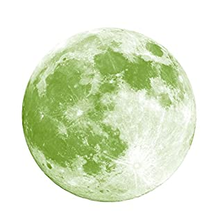 LinLang Dark Wall Sticker, Absorbed Light in Daytime Night Automatically Glow DIY PVC Moon Luminous Mural Wall Sticker Children's Kid's Room Decoration 30 * 30cm DN037